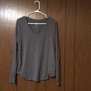 Dark grey long sleeve shirt